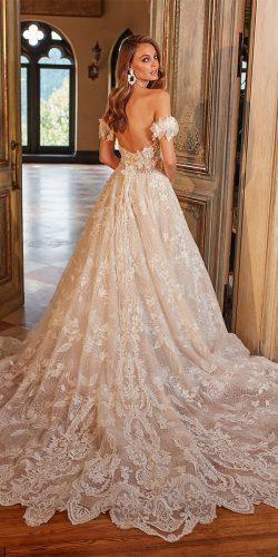 off the shoulder wedding dresses a line low back full lace eveofmiladybridals