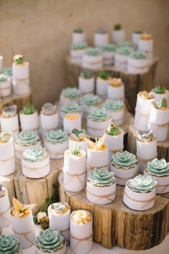 sage green wedding small bridal desserts decorated with succulents ronel kruger