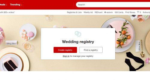 target wedding registry main