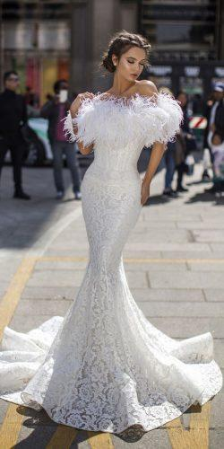tarik ediz wedding dresses fit and flare off the shoulder with fringe 2019