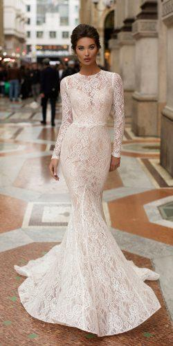 tarik ediz wedding dresses mermaid with long sleeves full lace 2019