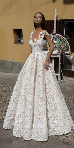 tarik ediz wedding dresses princess illusion neckline lace 2019