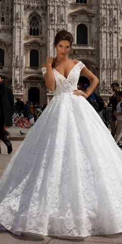 tarik ediz wedding dresses princess off the shoulder lace v neckline 2019