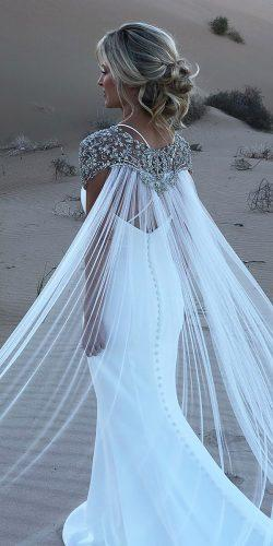 vintage inspired wedding dresses mermaid jeweled with cape casablanca