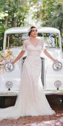 vintage inspired wedding dresses sheath with cap sleeves jeweled rebekah westover photography