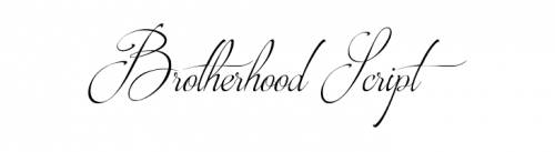 wedding fonts Brotherhood Script