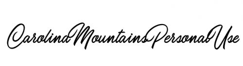 wedding fonts Carolina Mountains