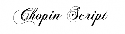 wedding fonts Chopin Script