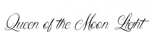 wedding fonts Queen of the Moon Light