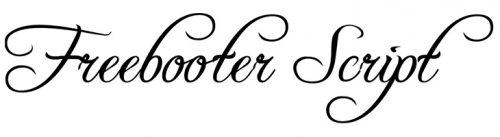 wedding fonts freebooter script