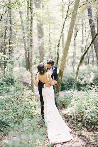 wedding photographers forest romantic couple ryleehitchner