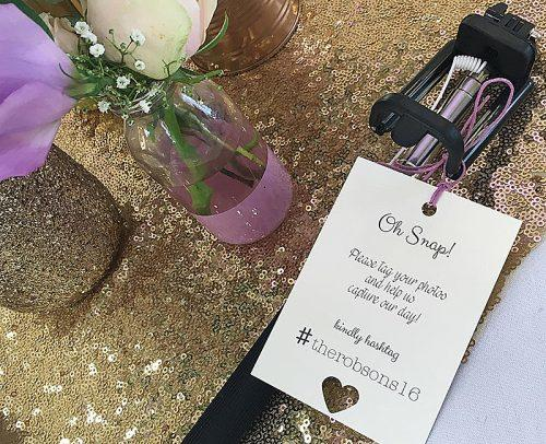wedding tech trend selfie stick decor instructions