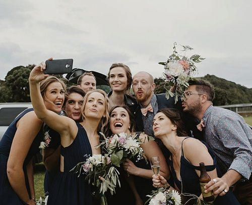 wedding tech trend live stream wedding newlyweds with guests