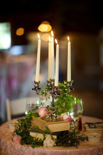 whimsical wedding candle centr piece Sarah DiCicco