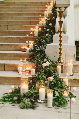 whimsical wedding decor ideas candle on stairs mia photography