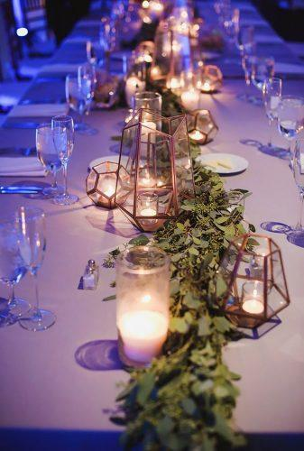 whimsical wedding decor ideas candle table decor Hannah Gunnell