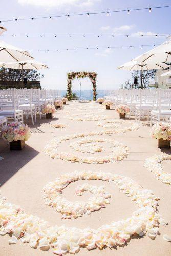 whimsical wedding decor ideas floral aisle Clove Kin