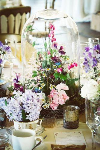 whimsical wedding decor ideas flower centerpiece Stella Photography