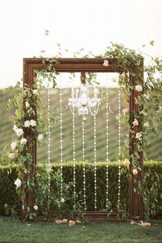 whimsical wedding decor ideas frame arch Jenna Joseph Photography