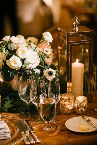 whimsical wedding decor ideas gold lantern JoshElliott Photography