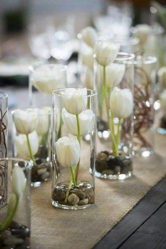 whimsical wedding decor ideas white tultps IJ Photo