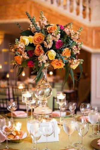 whimsical wedding floral centerpiece Lisa Boggs Photography
