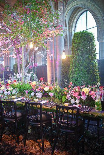 whimsical wedding forest reception decor morganours