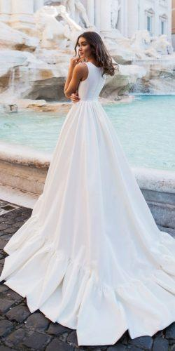 a line wedding dresses simple sleveless dom vesta