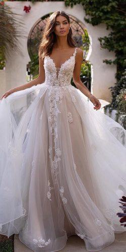 a line wedding dresses sweetheart neckline lace tulle skirt moonlightbridal