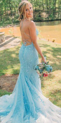 blue wedding dresses sheath open lace sexy sherrihill