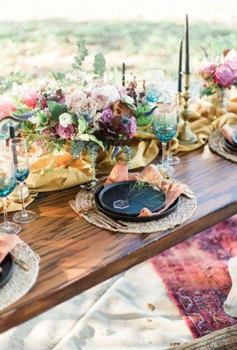 boho wedding trends color table decor Tricia Marie Photography