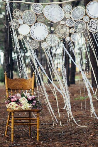boho wedding trends dream catcher backdrop Peggy Saas