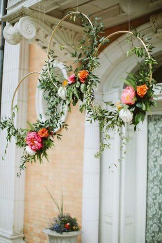 boho wedding trends hanging flowers Paige Jones Photography