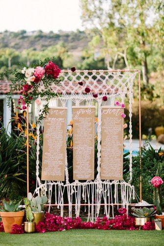 boho wedding trends macrame sign let s floric together