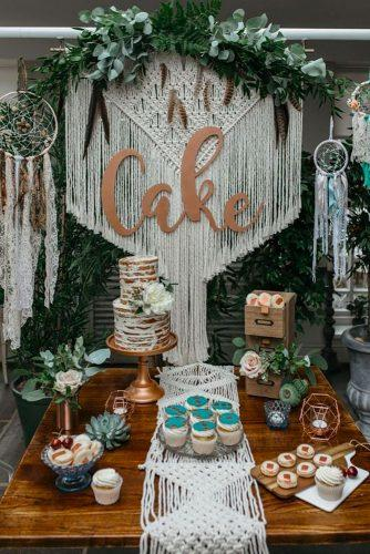 boho wedding trends macreme cake decor Magda K