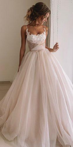 disney wedding dresses ball gown with spaghetti straps blush kuznetcova brand