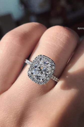 engagement ring inspiration diamond halo white gold