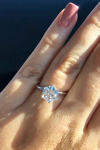 engagement ring inspiration round cut diamond classic