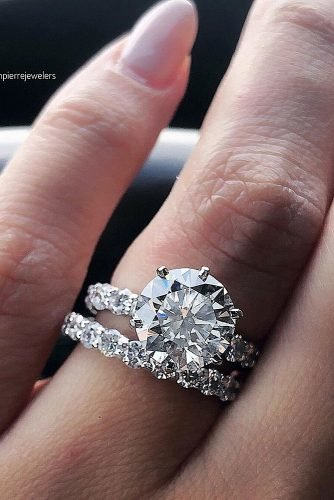engagement ring inspiration round cut wedding set diamond