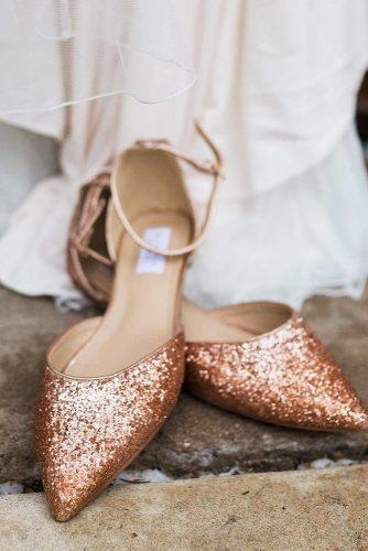gorgeous bridal shoes flat gold sparkle for summer shop kaileep