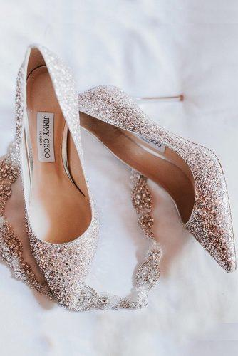 gorgeous bridal shoes sparkle with heels blush jimmy choo