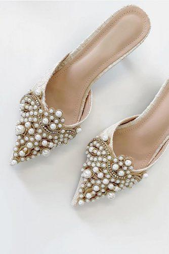 gorgeous bridal shoes vintage with pearls summer vitagrace