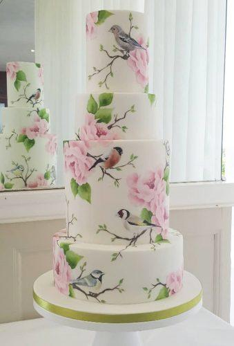 handpainted wedding cakes charming birds emilyhankinscakes