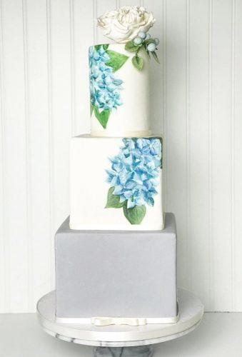 handpainted wedding cakes elegant square cake catiecakes