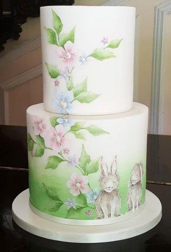 handpainted wedding cakes hare on cake emilyhankinscakes