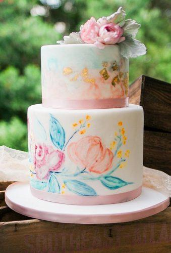 handpainted wedding cakes small rustic cake ohmyoccasions