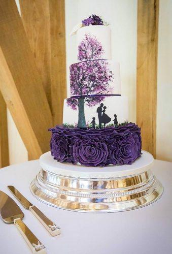handpainted wedding cakes violet unique cake bluebellkitchen
