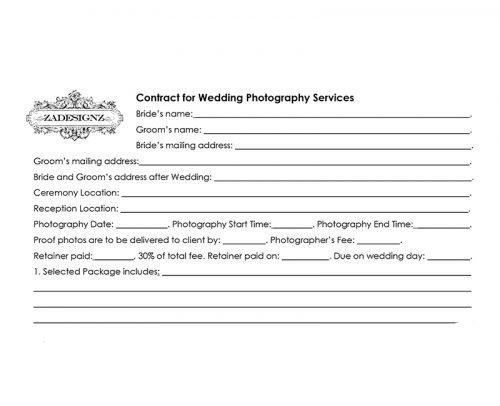 how much does a wedding photographer cost wedding photographer contract template