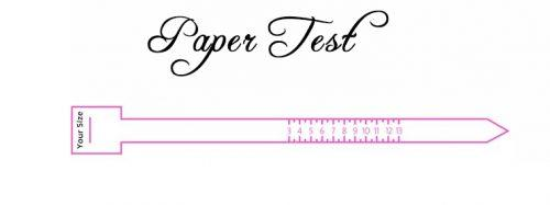 how to measure ring size printable paper test