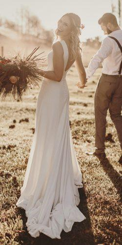 rustic wedding dresses simple sheath low back country rodrigovipych